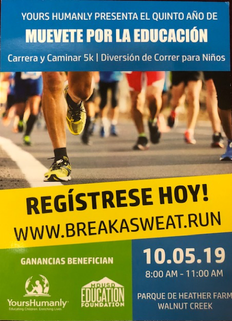Run flyer Spanish